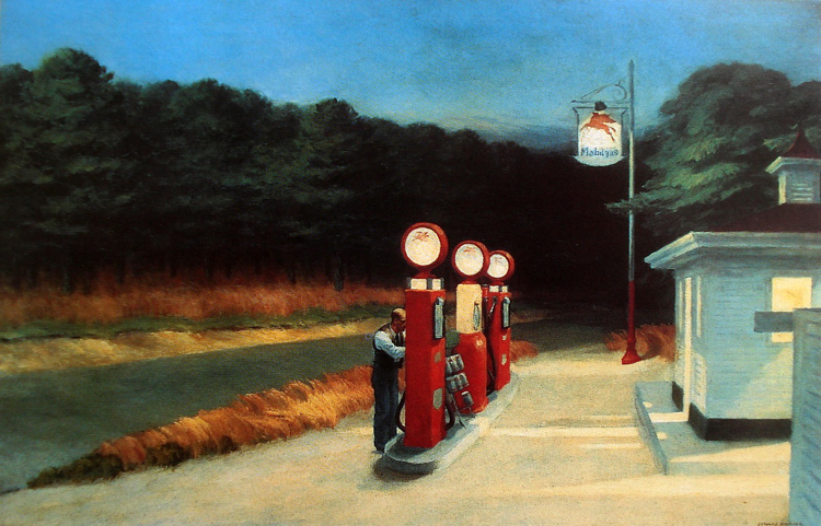 Edward Hopper , Gas 1940 MOMA New York